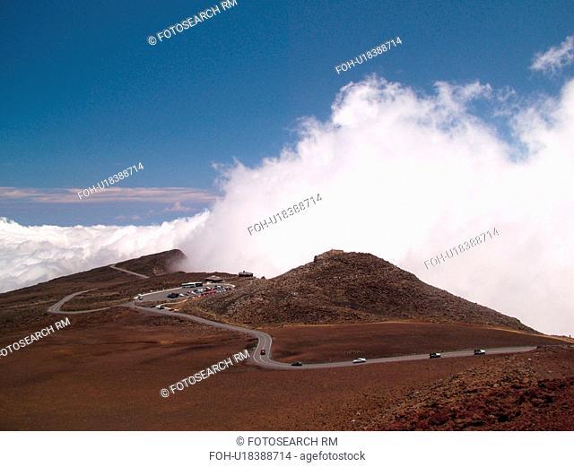 Maui, HI, Hawaii, Haleakala National Park, Puulaula Summit (10, 023 ft.), volcano, Haleakala Crater Road