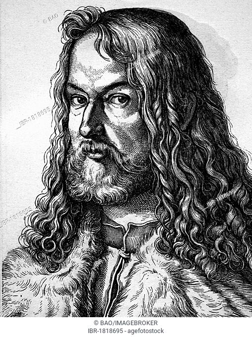 Albrecht Duerer, painter, 1471 - 1528, historical illustration, portrait, 1880