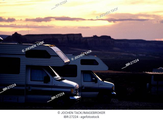 USA, United States of America, New MExico: Traveliing in a Motorhome, RV, through the west of the US