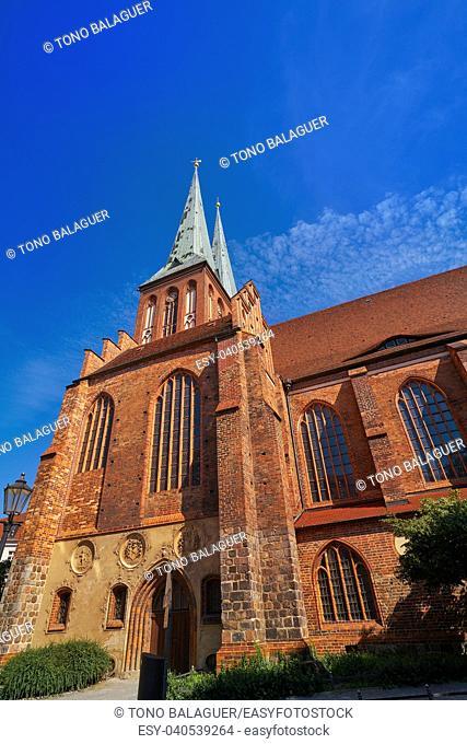 Berlin Nikolaikirche church in Germany baltic gothic artchitecture
