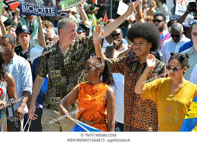 Scenes from the 2014 West Indies Day Parade Featuring: Bill de Blasio,Chirlane McCray,Chiara de Blasio,Dante de Blasio,Andrew Cuomo Where: Manhattan, New York