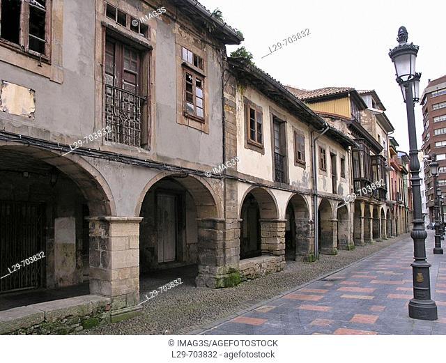 Calle Galiana, Avilés, Asturias, Spain