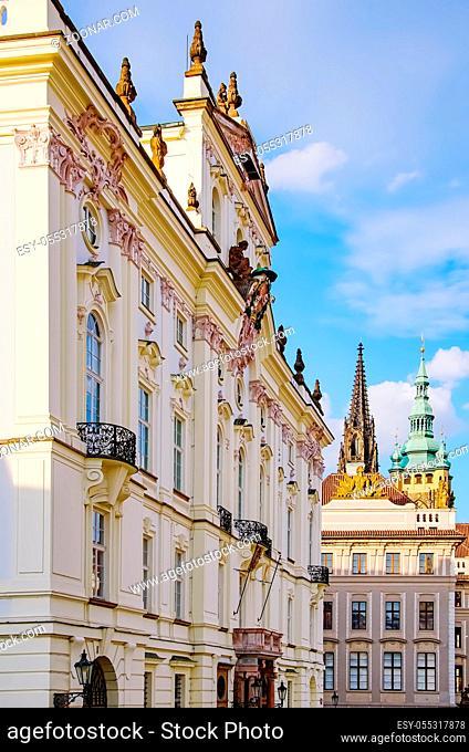 Building in Historical Center of Prague, Czech Republic