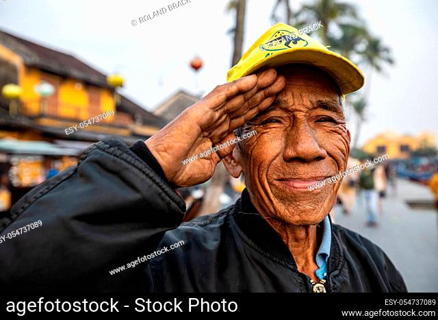 elderly man with a smile from vietnam