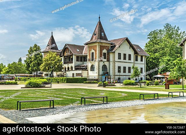Hotel Hullam was opened in 1894. Hotel Hullam is located on the shores of Lake Balaton in Keszthely, Zala county, Western Transdanubia, Hungary, Europe