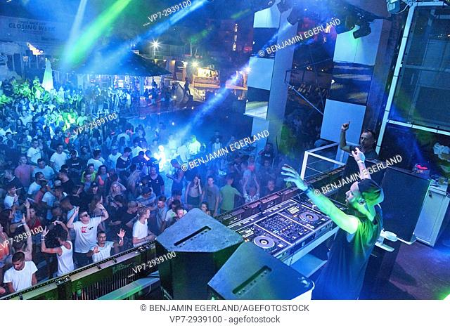 DJ Jordy Dazz playing at music festival Starbeach in Hersonissos, Crete, Greece, on 12. July 2017