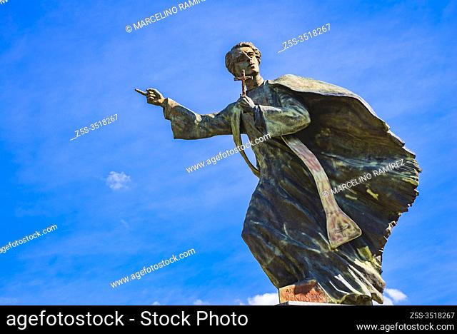 The monument to the Rev. Ignacy Skorupka was made by a sculptor Andrzej Renes. It was unveiled on 13th August, 2005 in front of the Cathedral of St