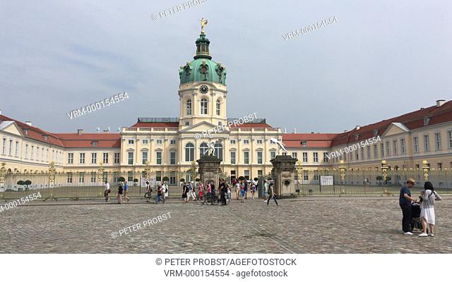 Charlottenburg Palace in Berlin with visitors - Germany