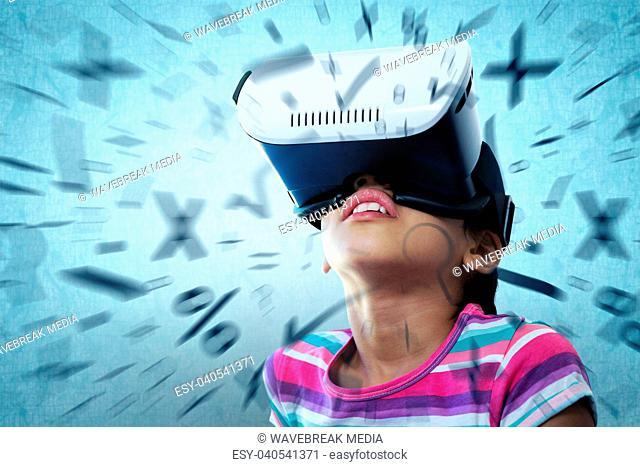 1d27ec88e89 Composite image girl virtual reality simulator Stock Photos and ...