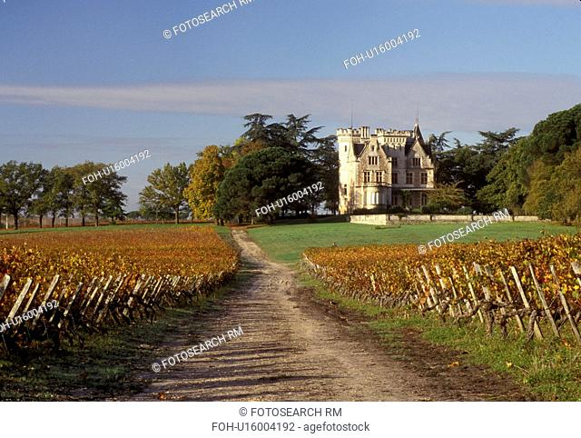 France, Bordeaux Wine Region, vineyard, Gironde, Chateau Lanessan, Europe, Aquitaine, Medoc Vineyards