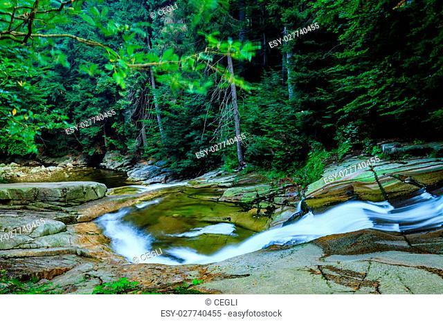 Mumlava river in the Karkonosze National Park, Harrachov
