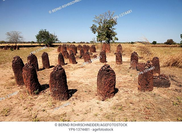Wassu stone circles, world cultural heritage, The Gambia, Africa