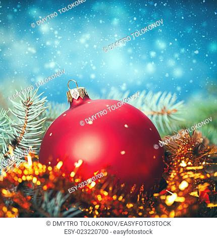 Abstract Christmas backgrounds with holiday decorations