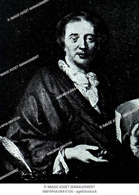 Portrait of François Couperin (1668-1733) French composer, organist and harpsichordist of the Baroque era. Dated 18th Century