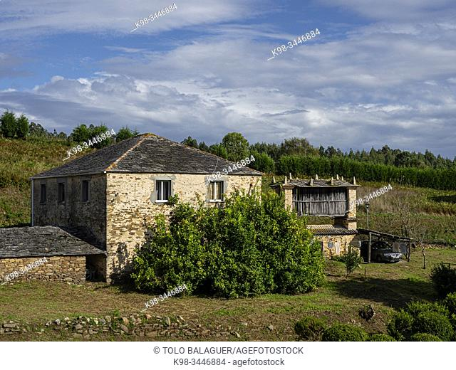 hórreo tradicional, Mondoñedo, Montoñedo, Lugo, Galicia, Spain
