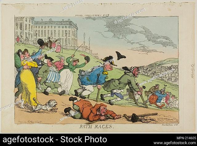 Bath Races, from Tegg's Caricatures no. 49 - published November 20, 1810 - Thomas Rowlandson (English, 1756-1827) published by Thomas Tegg (English