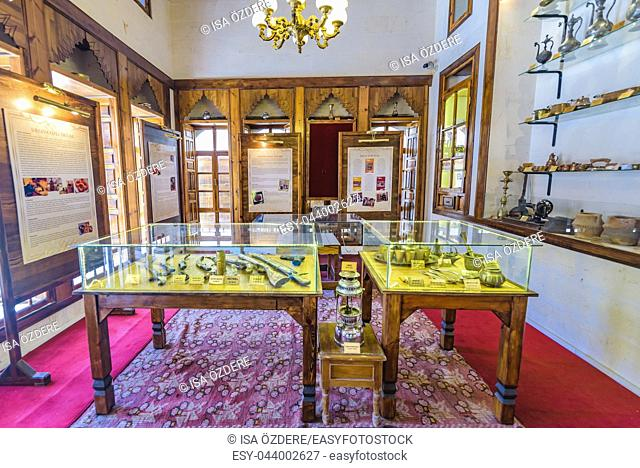 Traditional old objects at Sanliurfa Traditional Kitchen Museum in Sanliurfa, Turkey. 19 July 2018