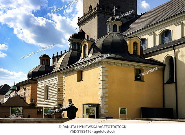Jasna Gora - most famous Polish pilgrimage site, sanctuary of Our Lady of Czestochowa - Queen of Poland and the Pauline Fathers order monastery, National Shrine
