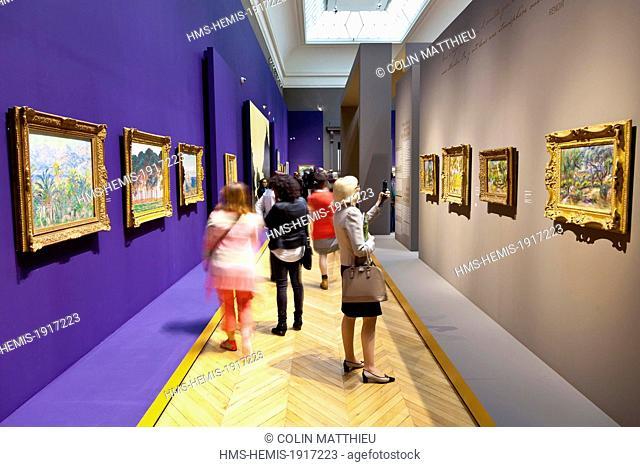 France, Bouches du Rhone, Marseille, Palais Longchamp, Museum of Fine Arts in Marseille, Le Grand Atelier du Midi, From Van Gogh to Bonnard painting exhibition