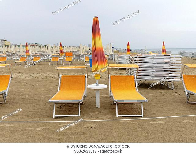 End of season, Cervia, Adriatic riviera, Emilia Romagna, Italy