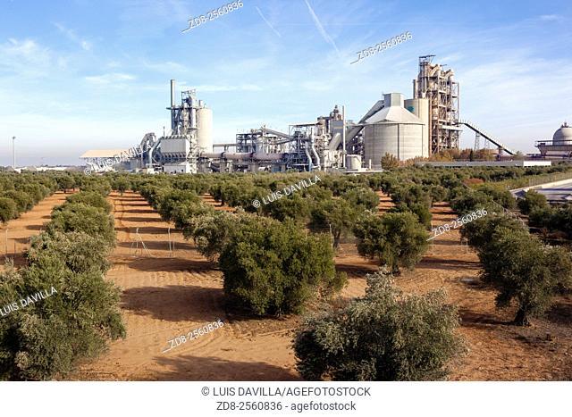 'Portland' cement factory. Morata de Tajuña. Madrid, Spain