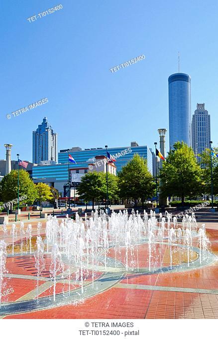 USA, Georgia, Atlanta, View of Cenntinial Park