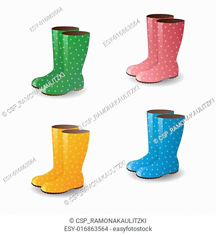 Vector Rubber Boots