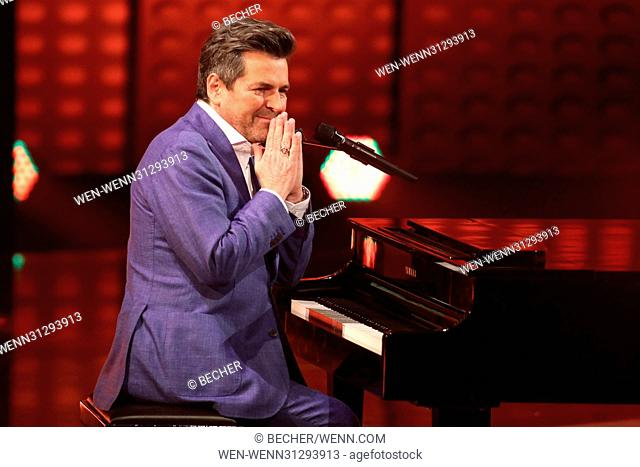 German ZDF TV Show 'Carmen Nebel Show' (Broadcast on 13th April 2017) Featuring: Thomas Anders Where: Magdeburg, Germany When: 08 Apr 2017 Credit: Becher/WENN