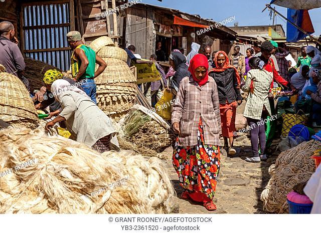 Local People Shopping In The Merkato, Addis Ababa, Ethiopia