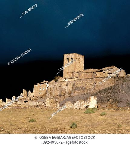 Yesa reservoir. Huesca province. Aragon. Spain