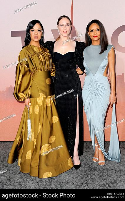 Evan Rachel Wood, Thandie Newton and Tessa Thompson at the HBO's 'Westworld' Season 3 premiere held at the TCL Chinese Theatre in Hollywood, USA on March 5