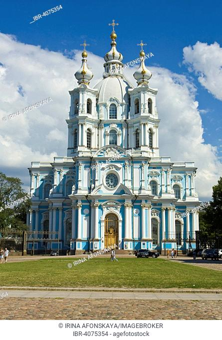 Smolny Convent or Smolny Convent of the Resurrection, Saint Petersburg, Russia