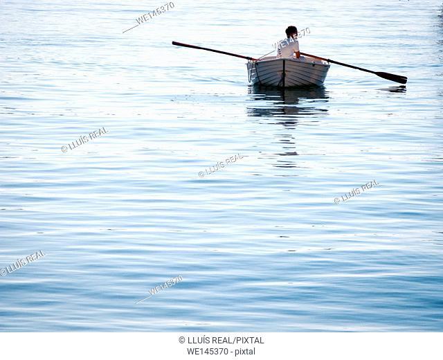Barca, remo, pequeña, embarcación, Boat, rowing, small boat