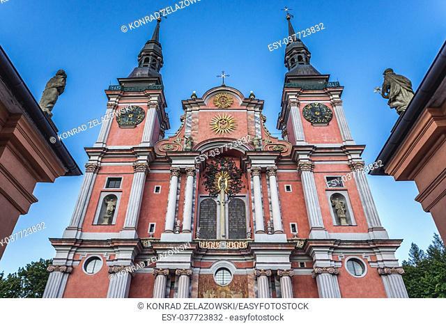 Basilica of the Visitation of the Blessed Virgin Mary in Swieta Lipka (Holy Lipka) village in Ketrzyn County, Warmian-Masurian Voivodeship of Poland