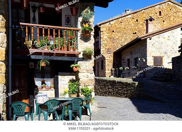 Barcena Mayor village  Cabuerniga Valley  Cantabria, Spain