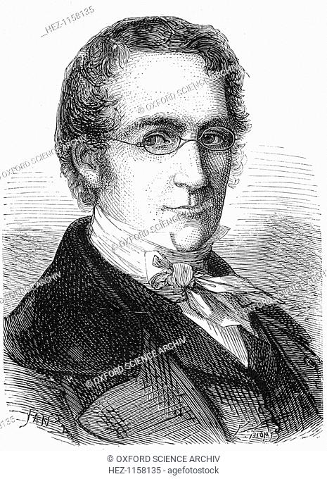 Joseph Louis Gay-Lussac, French chemist, physicist and balloonist, c1870. Gay-Lussac (1778-1850) investigated the behaviour of gases and developed techniques of...