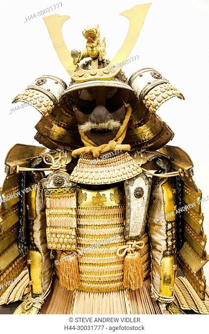 Japan, Honshu, Shizuoka Prefecture, Atami, Atami Castle, Exhibit of Japanese Historical Body Armour
