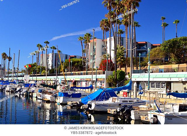 A marina in Redondo Beach, California