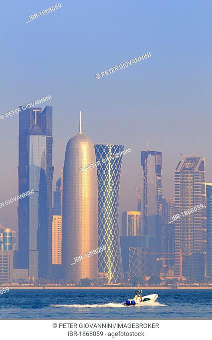 Skyscrapers, Business District, West Bay area, Doha, Qatar