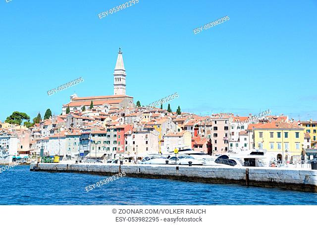 rovinj, Istrien, kroatien, meer, mittelmeer, küste, kirche, st. euphemia, halbinsel, altstadt, pittoresk, malerisch, euphemia