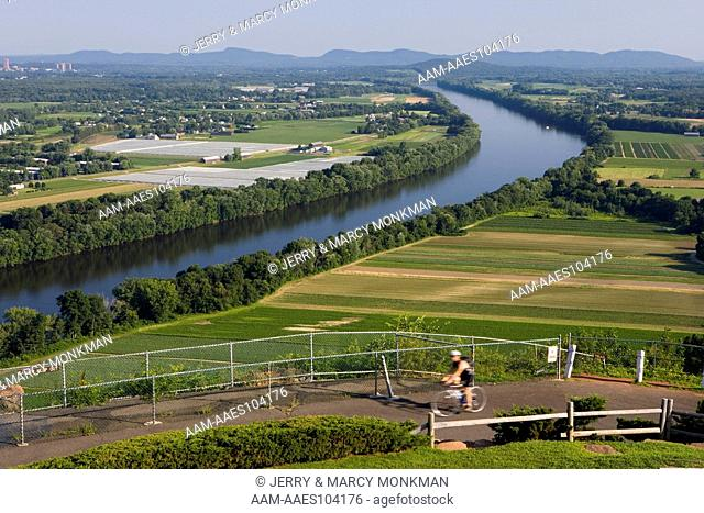 The Connecticut River as seen from South Sugarloaf Mountain in Deerfield, Massachusetts. (bicycle)