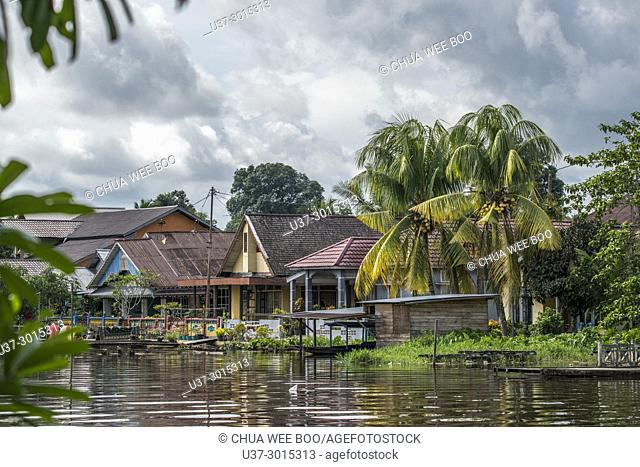 Waterfront, Masjid Agung Jami' Sultan Muhammad Tsafiuddin, Sambas, West Kalimantan, Indonesia