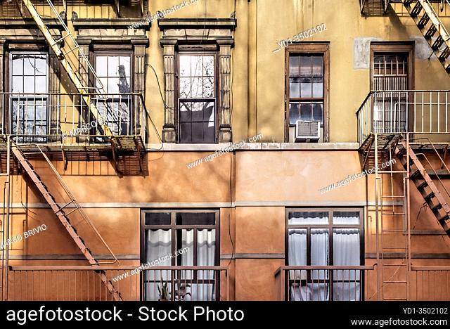 New York. Manhattan. Typical house at Greenwich Village