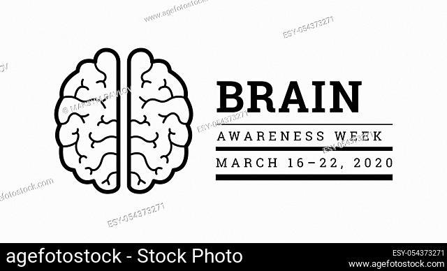 Brain Awareness Week 2020. Vector illustration on white background