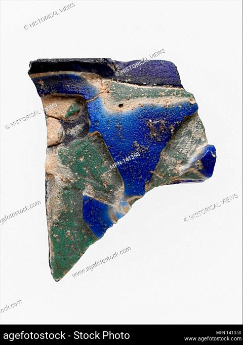 Glass cameo cup fragment with incuse decoration. Period: Early Imperial; Date: end of 1st century B.C-beginning of 1st century A