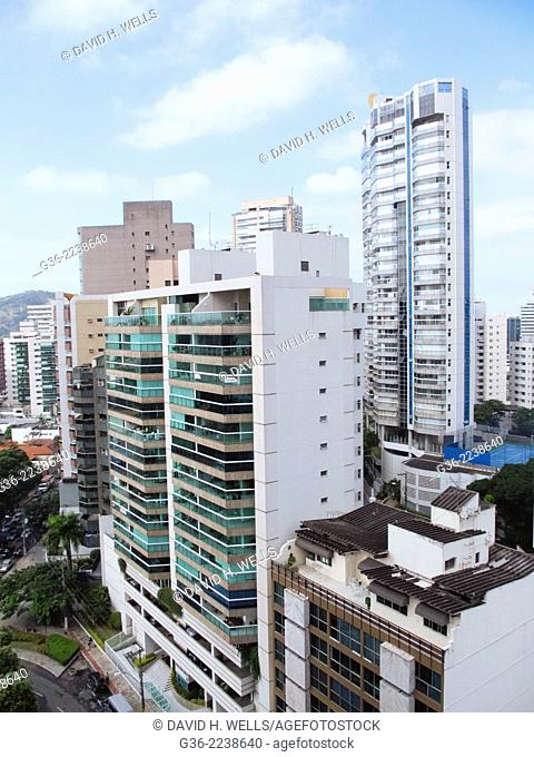 Modern apartment buildings at Vitoria, Espirito Santo, Brazil