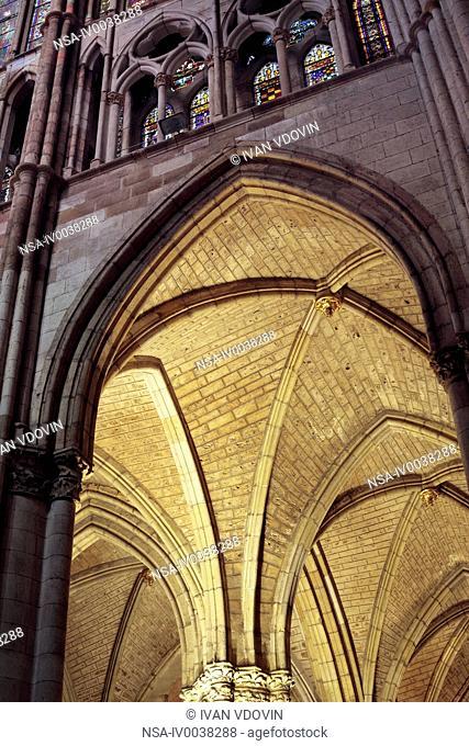 Santa Maria de Leon Cathedral, Leon, Castile and Leon, Spain