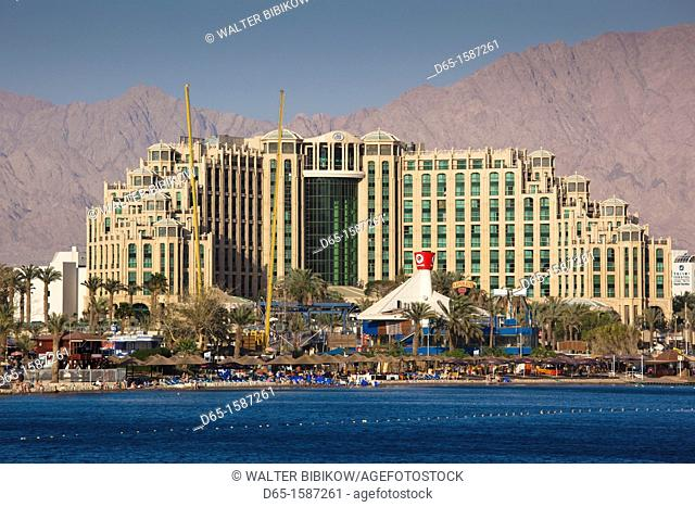 Israel, The Negev, Eilat, Red Sea beachfront, resort hotels