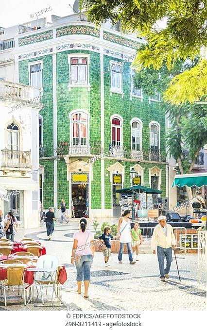 street scene lagos, algarve, portugal