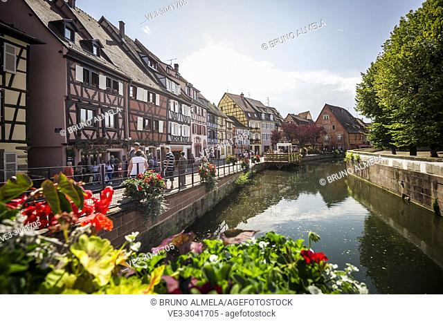 View of Little Venice at medieval town of Colmar, Alsace (department of Haut-Rhin, region of Grand Est, France)